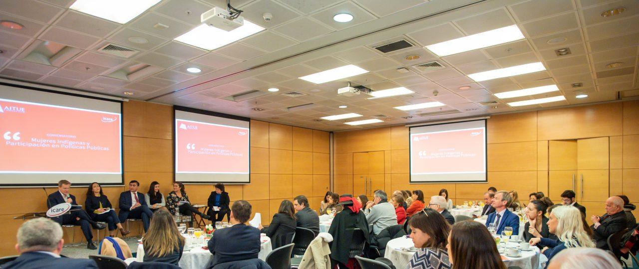 ¿Cómo impulsar a las mujeres indígenas en las políticas públicas?  Las claves del conversatorio organizado por ICARE y Fundación Aitué
