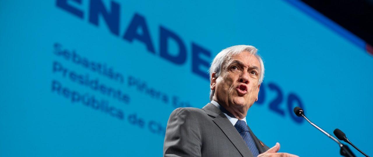 """Presidente Sebastián Piñera en ENADE 2020: """"Sin crecimiento económico no hay ninguna agenda social sustentable"""""""