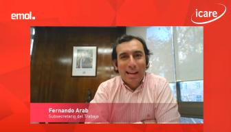 """Fernando Arab, subsecretario del Trabajo, en ICARE: """"Queda mucho por avanzar, pero hoy el teletrabajo es una modalidad que nos ha ayudado y una herramienta para proteger los empleos"""""""