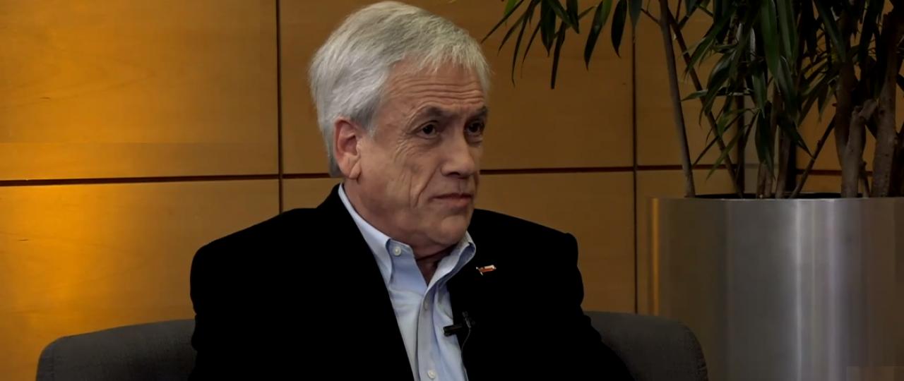 """Sebastián Piñera, Presidente de la República, en el Ciclo """"En Persona"""" de ICARE: """"Llevamos meses discutiendo entre 'Apruebo' o 'Rechazo', pero para mí son dos caminos que espero lleven a un acuerdo serio y responsable"""""""