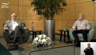 """Marco Antonio de la Parra y León Cohen en el Ciclo """"En Persona"""" de ICARE: conversaciones sobre la vida, el país y el futuro bajo la mirada de dos destacados psiquiatras"""