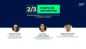 """""""2/3: punto de encuentro"""" – Capítulo 12: Javier Couso y Sebastián Soto conversan y dan su mirada sobre los disensos en la nueva Constitución"""